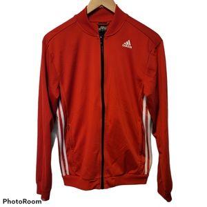 Adidas Full Zip Climalite Track Jacket SZ S